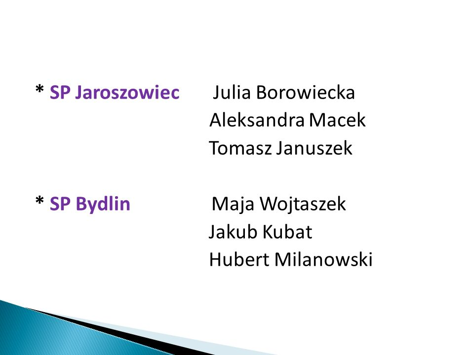 * SP Jaroszowiec Julia Borowiecka