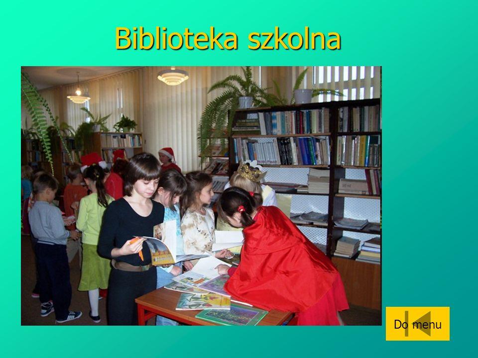Biblioteka szkolna Do menu