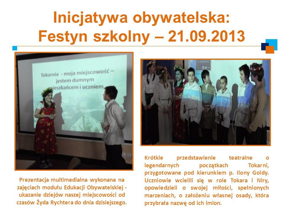Inicjatywa obywatelska: Festyn szkolny – 21.09.2013
