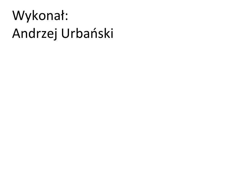 Wykonał: Andrzej Urbański