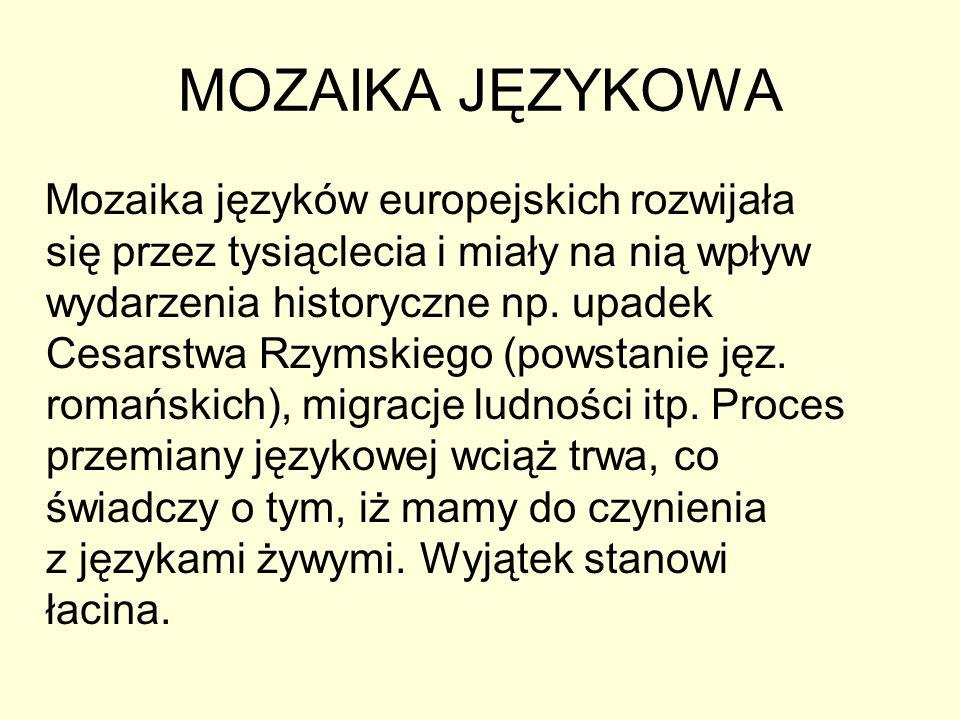 MOZAIKA JĘZYKOWA