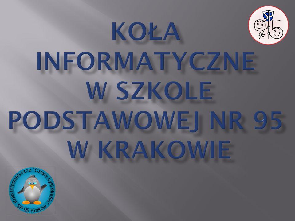 Koła informatyczne w szkole Podstawowej nr 95 w Krakowie