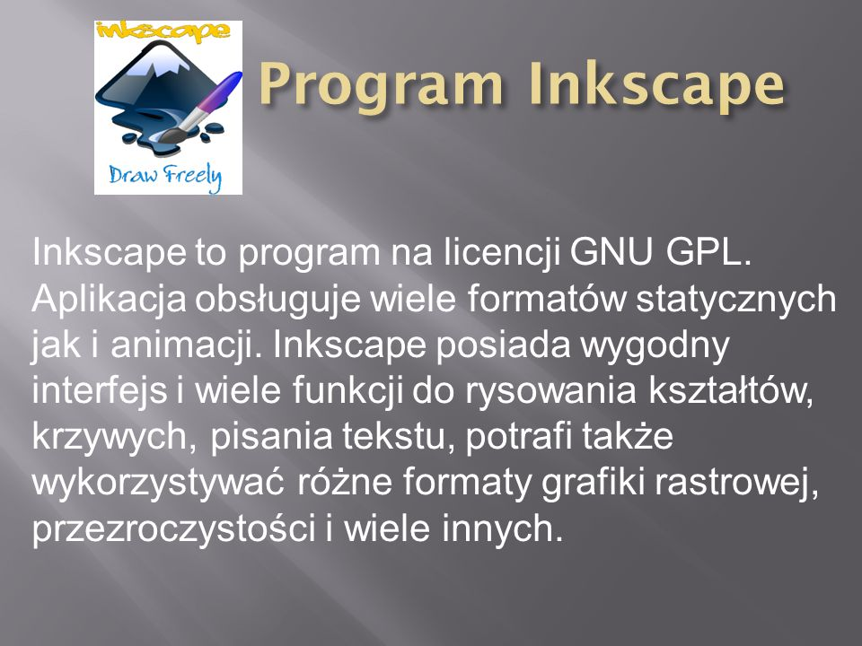Program Inkscape