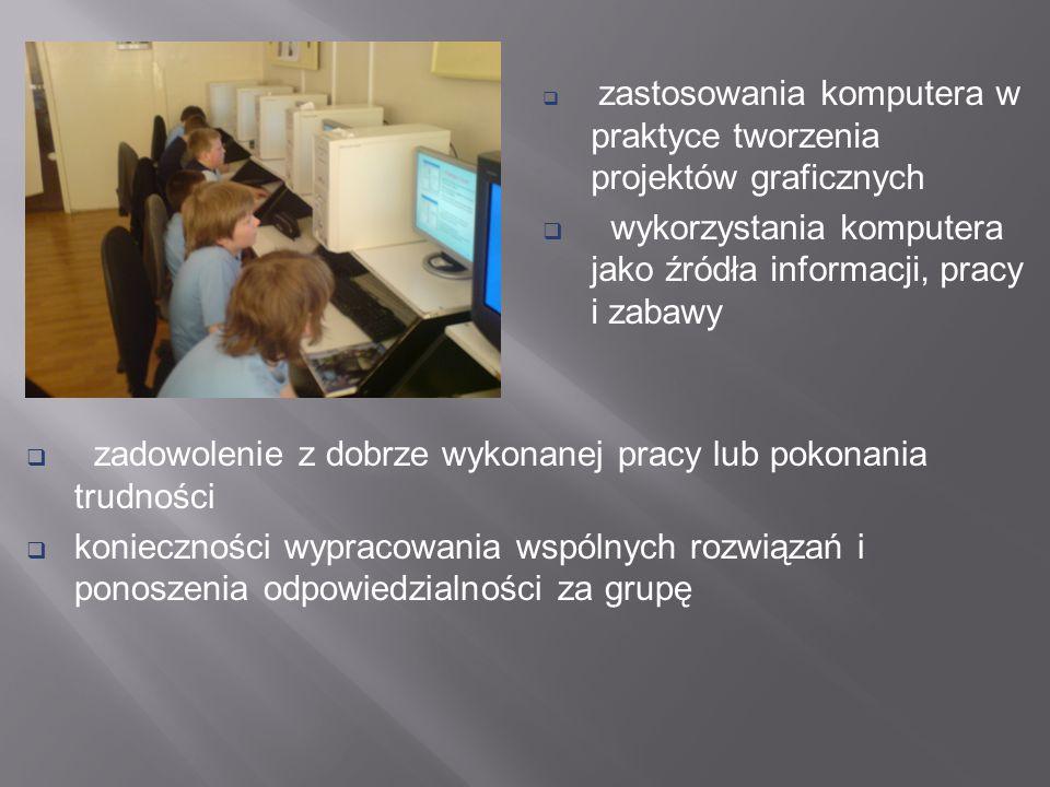 wykorzystania komputera jako źródła informacji, pracy i zabawy