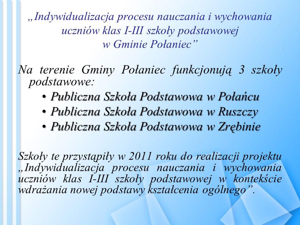 Na terenie Gminy Połaniec funkcjonują 3 szkoły podstawowe: