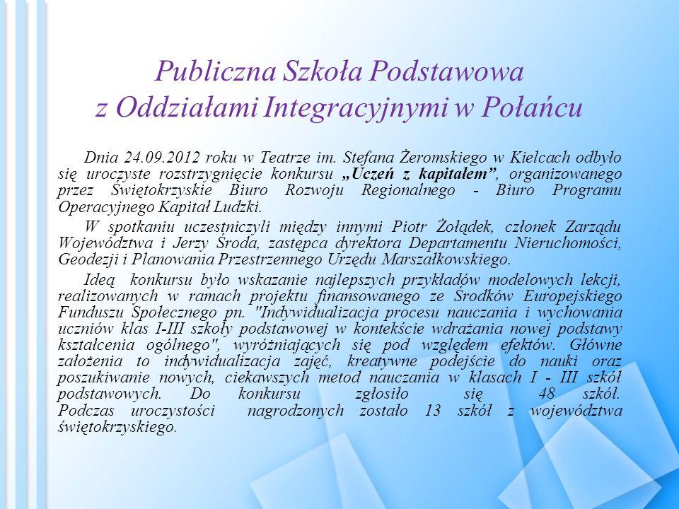 Publiczna Szkoła Podstawowa z Oddziałami Integracyjnymi w Połańcu