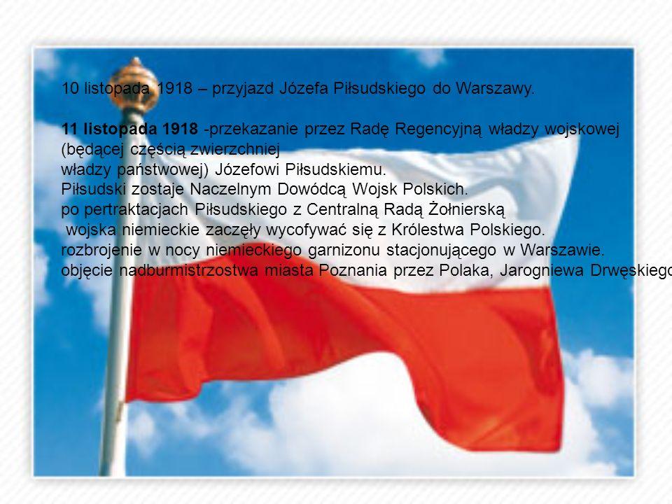 10 listopada 1918 – przyjazd Józefa Piłsudskiego do Warszawy.