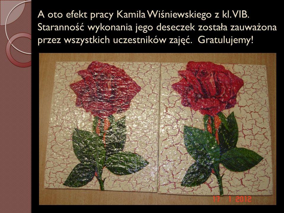 A oto efekt pracy Kamila Wiśniewskiego z kl. VIB