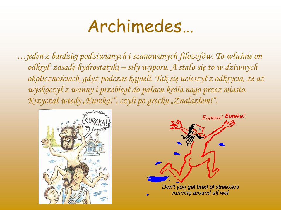 Archimedes…