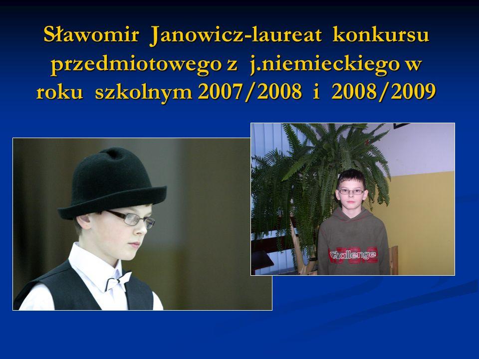 Sławomir Janowicz-laureat konkursu przedmiotowego z j