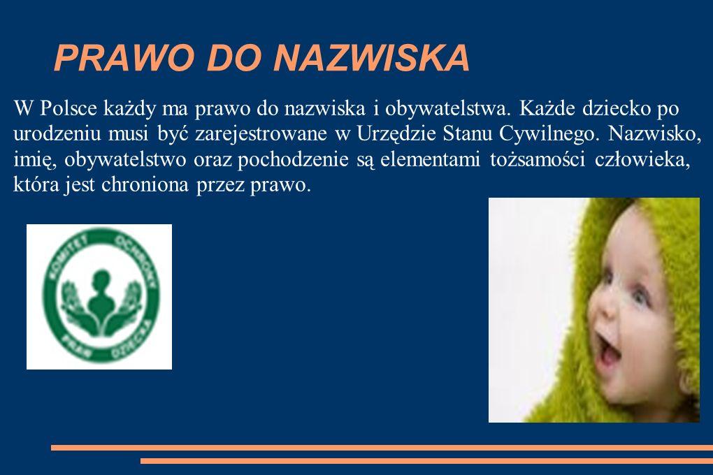 PRAWO DO NAZWISKA