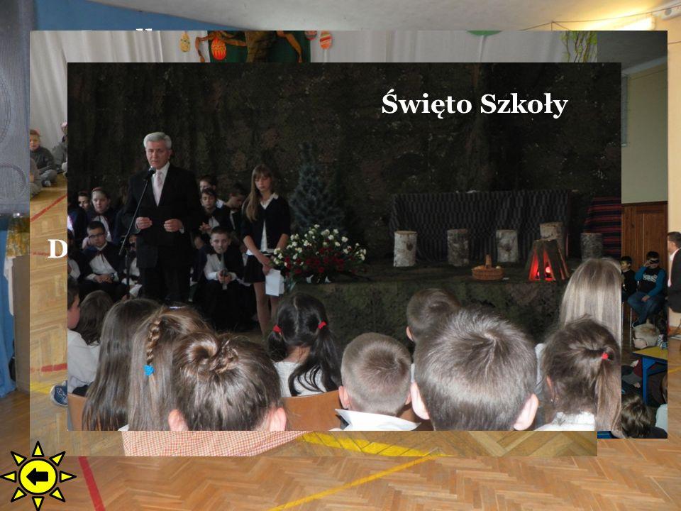 Jasełka Mikołajki. Majówka. Andrzejki. Ślubowanie. Dni dla Zdrowia. Festiwal Językowy. Dzień Misia.