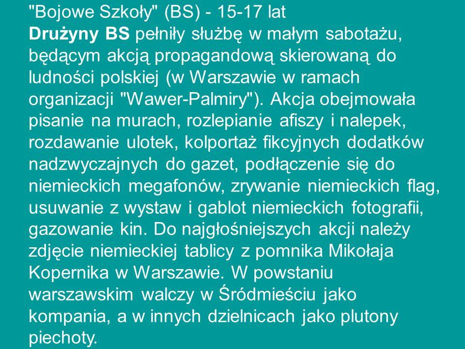 Bojowe Szkoły (BS) - 15-17 lat