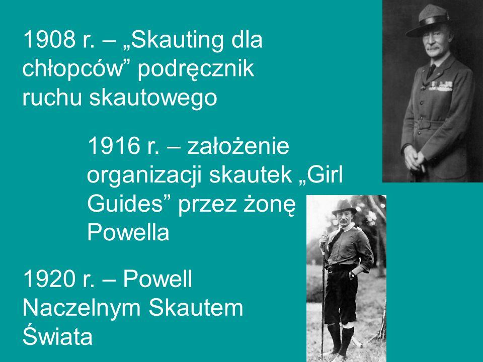 """1908 r. – """"Skauting dla chłopców podręcznik ruchu skautowego"""