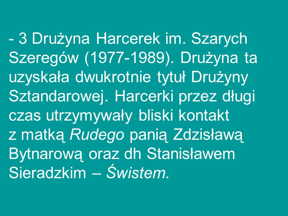 3 Drużyna Harcerek im. Szarych Szeregów (1977-1989)