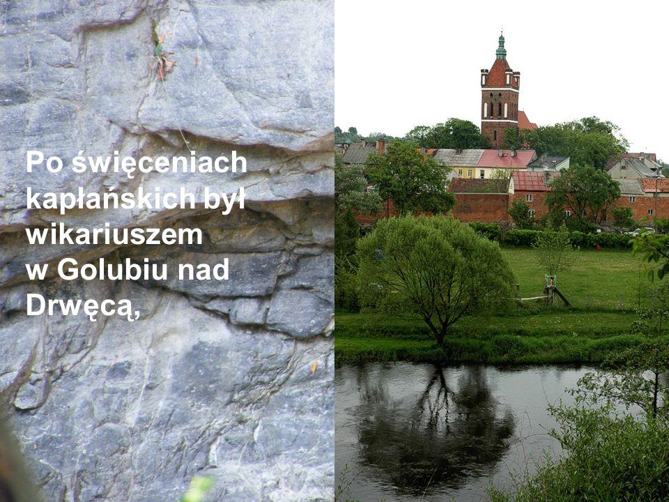 Po święceniach kapłańskich był wikariuszem w Golubiu nad Drwęcą,
