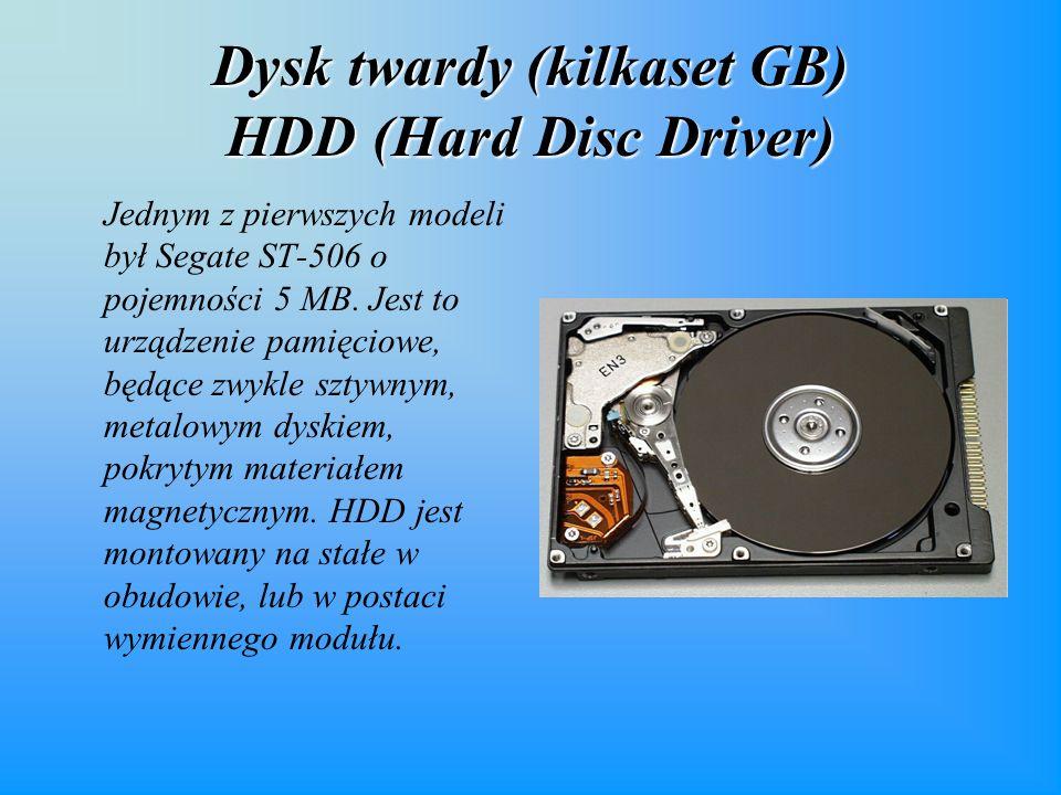 Dysk twardy (kilkaset GB) HDD (Hard Disc Driver)