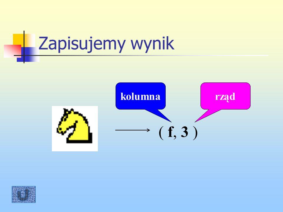 Zapisujemy wynik kolumna rząd ( f, 3 )