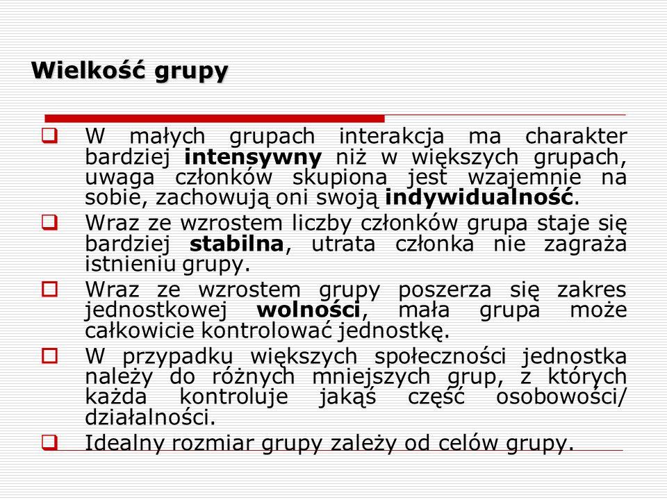 Wielkość grupy