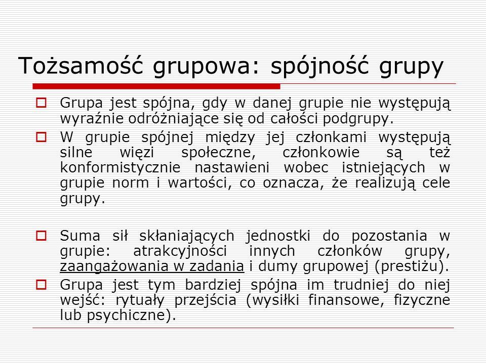 Tożsamość grupowa: spójność grupy