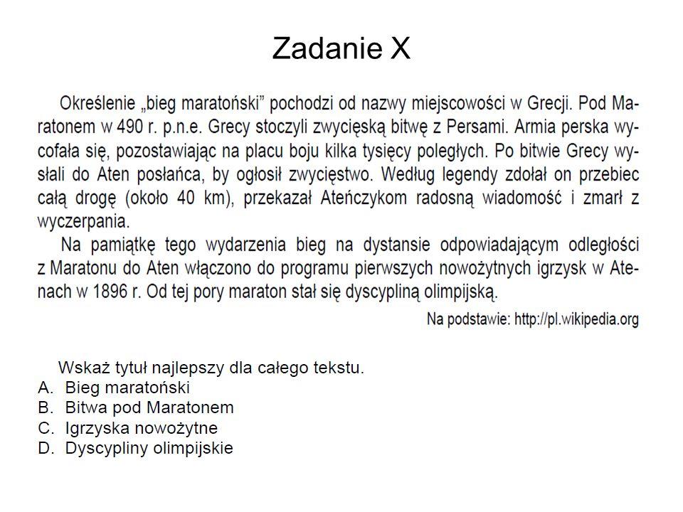 Zadanie X Zadanie 7