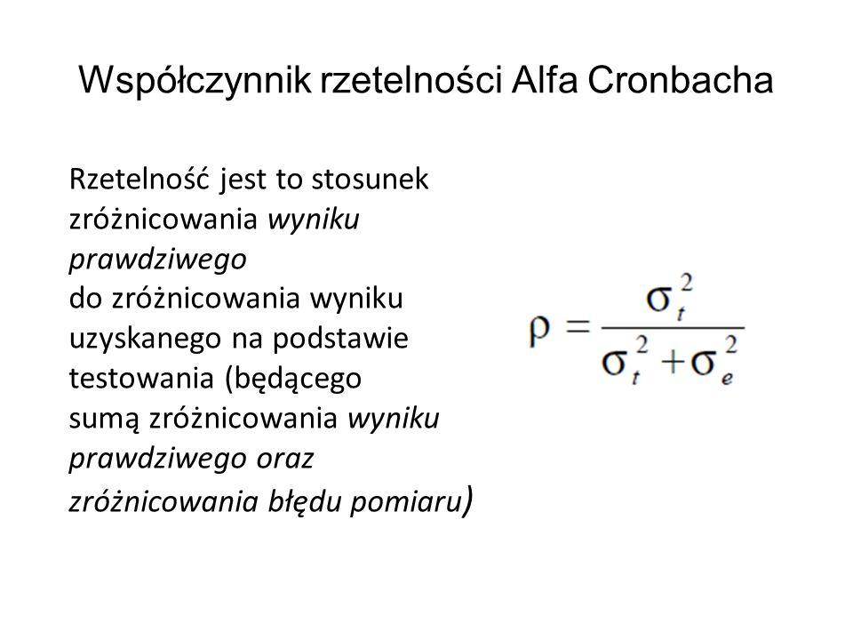 Współczynnik rzetelności Alfa Cronbacha