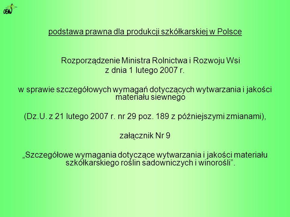 S OEM podstawa prawna dla produkcji szkółkarskiej w Polsce