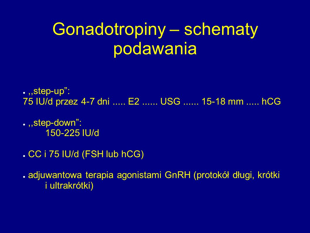 Gonadotropiny – schematy podawania