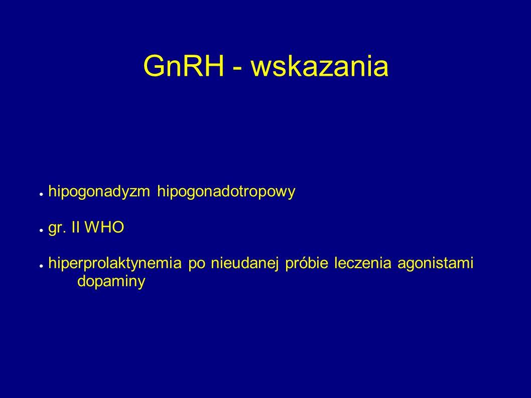 GnRH - wskazania hipogonadyzm hipogonadotropowy gr. II WHO