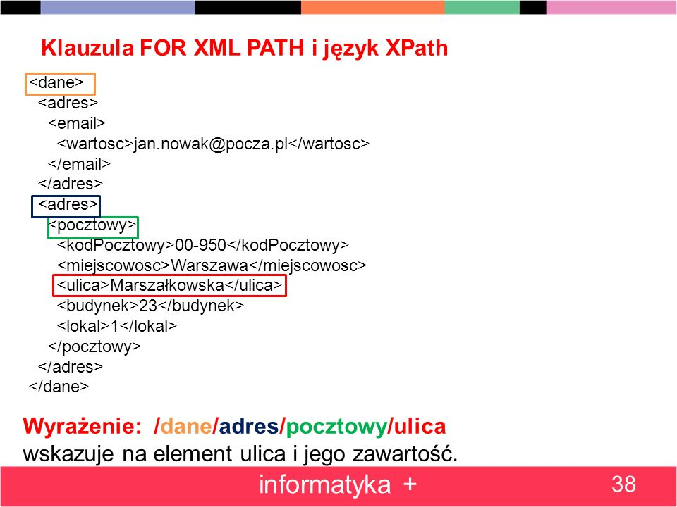 Klauzula FOR XML PATH i język XPath