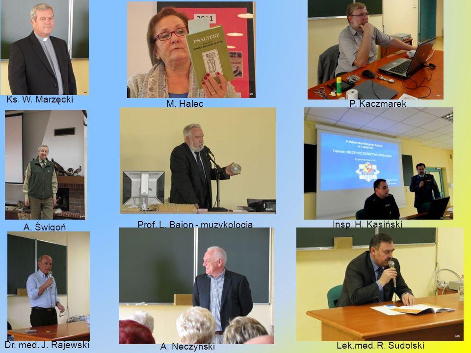 Prof. L. Bajon - muzykologia