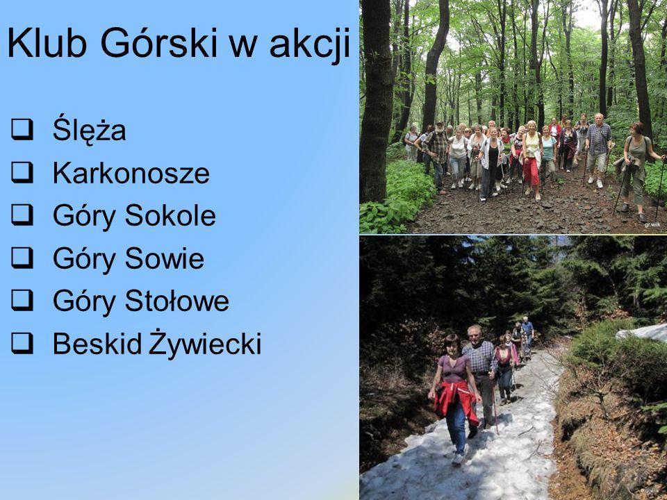 Klub Górski w akcji Ślęża Karkonosze Góry Sokole Góry Sowie