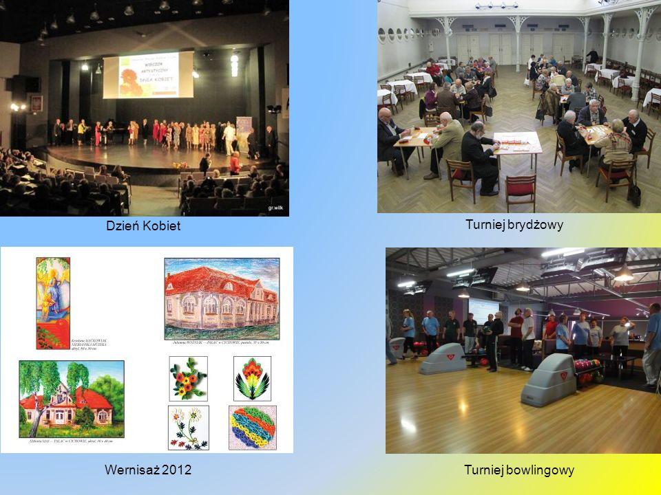Dzień Kobiet Turniej brydżowy Wernisaż 2012 Turniej bowlingowy