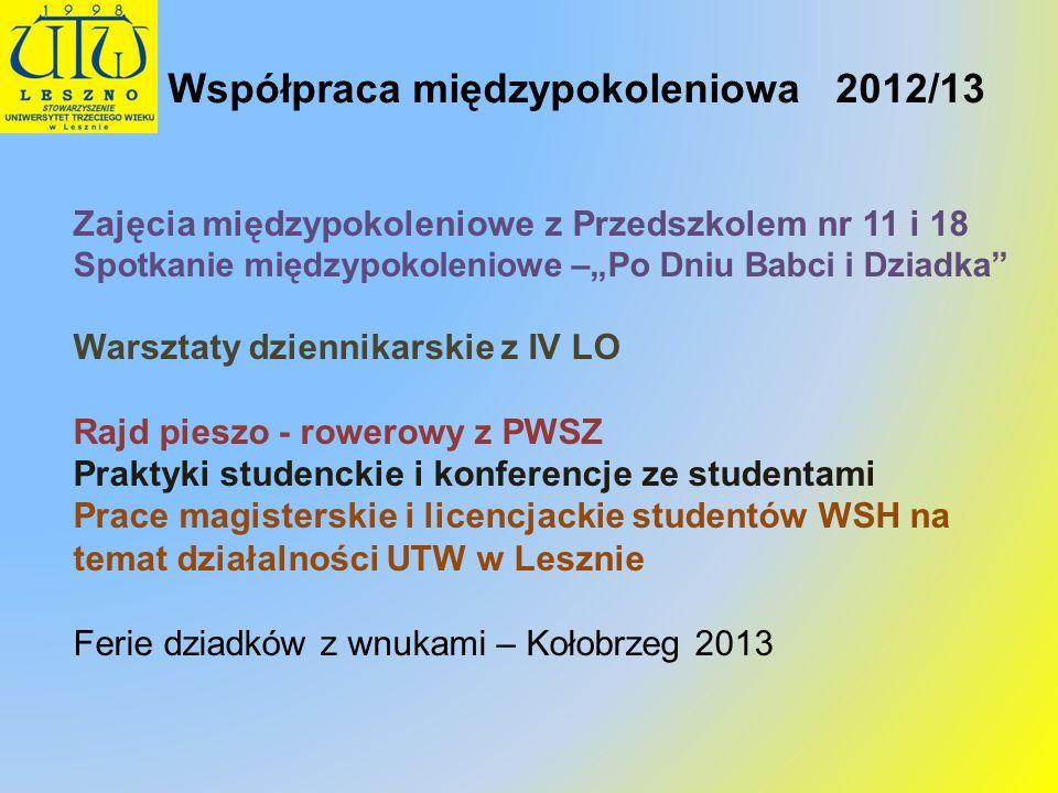 Współpraca międzypokoleniowa 2012/13