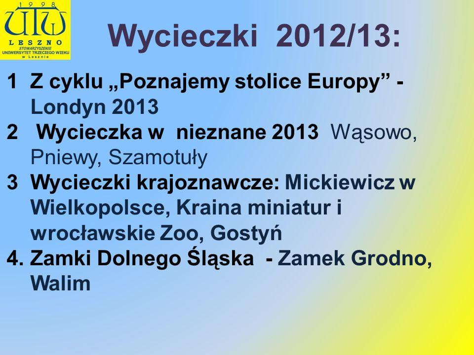 """Wycieczki 2012/13: Z cyklu """"Poznajemy stolice Europy - Londyn 2013"""