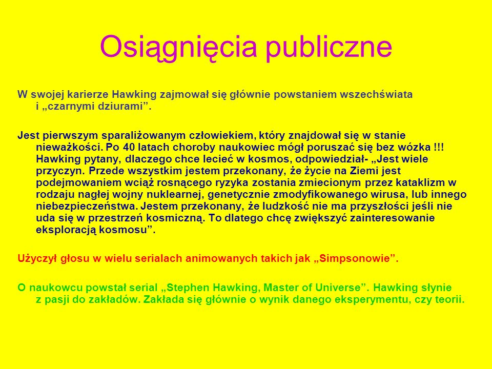 Osiągnięcia publiczne