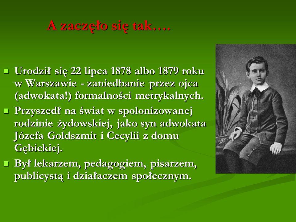 A zaczęło się tak…. Urodził się 22 lipca 1878 albo 1879 roku w Warszawie - zaniedbanie przez ojca (adwokata!) formalności metrykalnych.