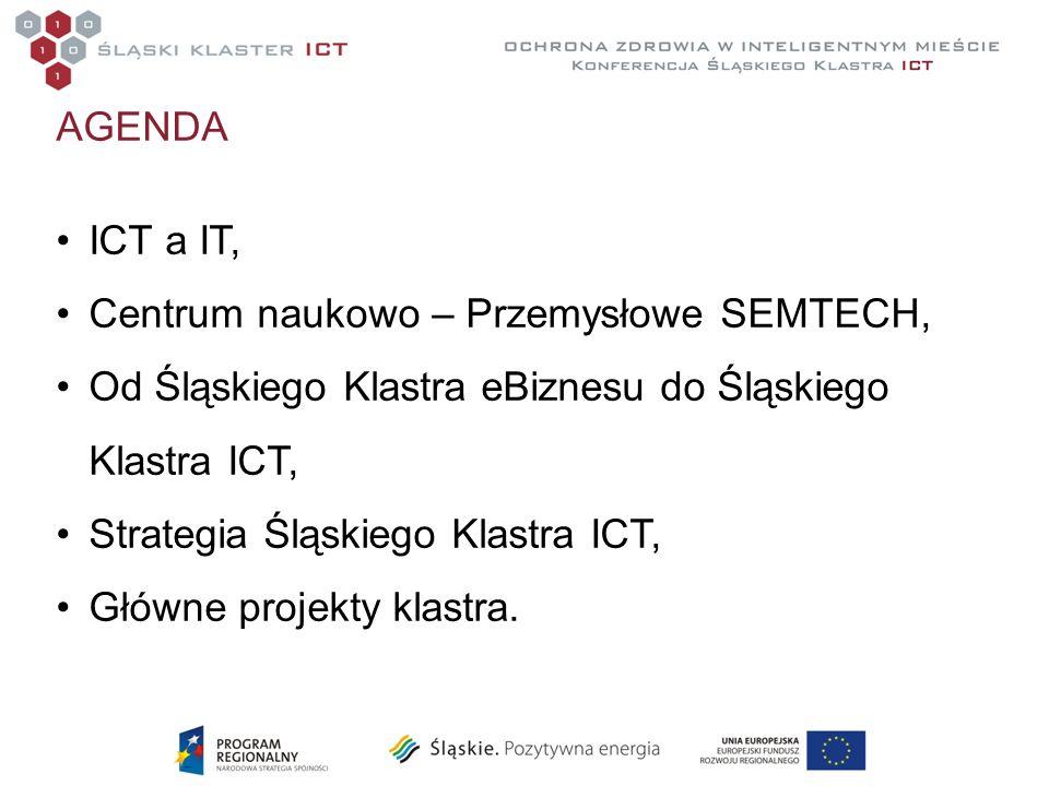 AGENDA ICT a IT, Centrum naukowo – Przemysłowe SEMTECH, Od Śląskiego Klastra eBiznesu do Śląskiego Klastra ICT,