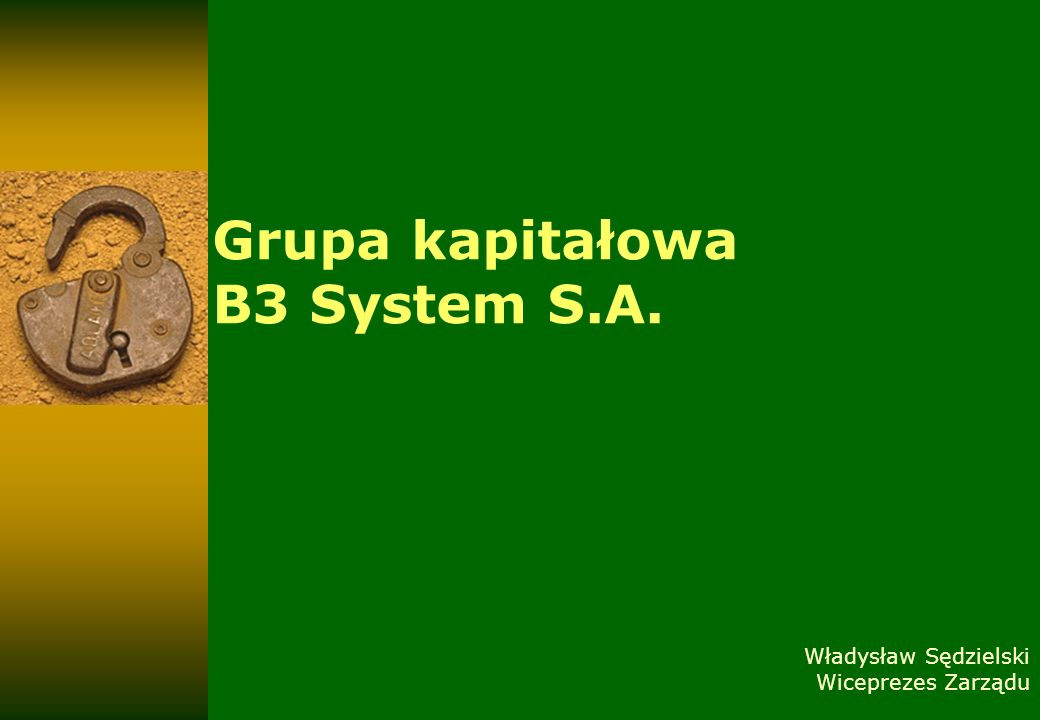 Grupa kapitałowa B3 System S.A.