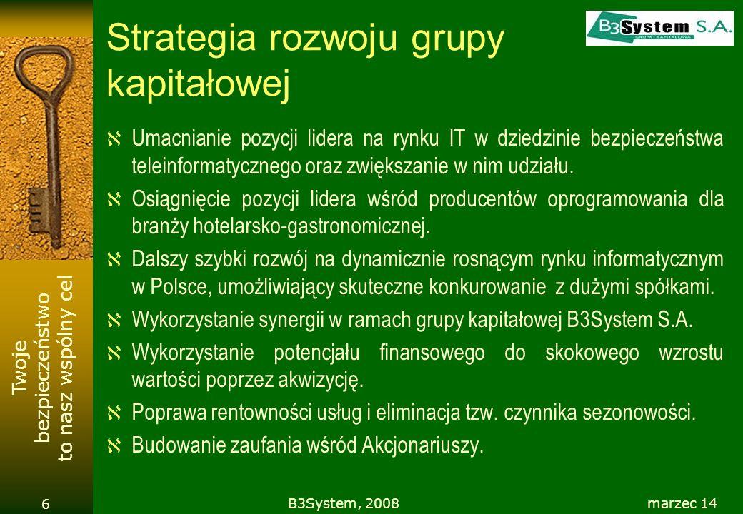 Strategia rozwoju grupy kapitałowej