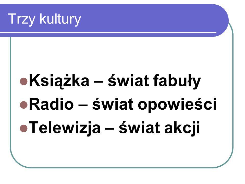 Radio – świat opowieści Telewizja – świat akcji