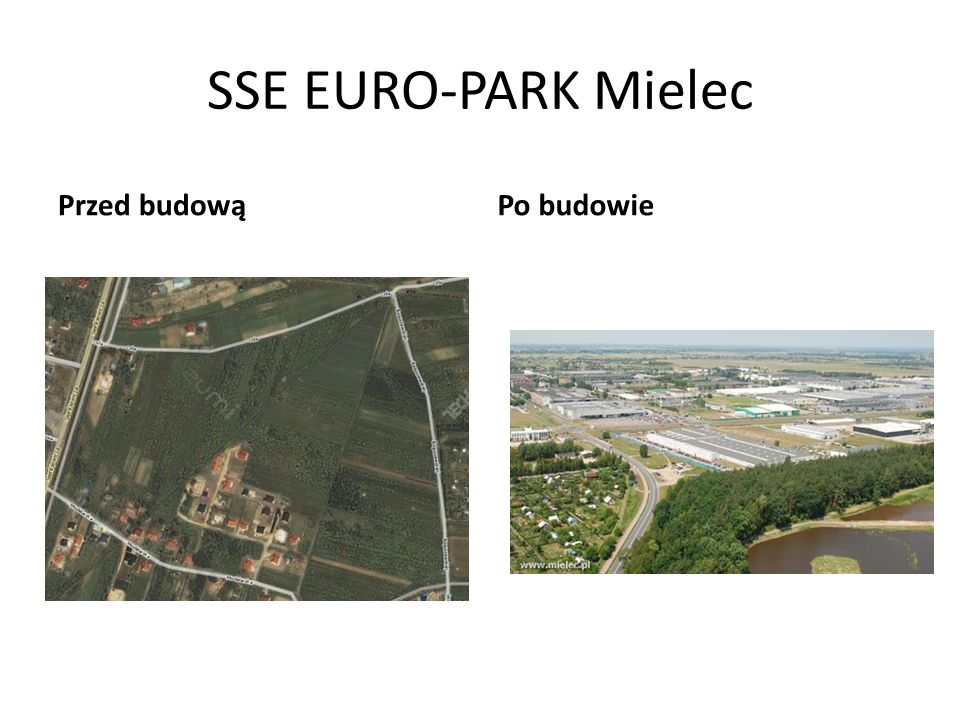 SSE EURO-PARK Mielec Przed budową Po budowie