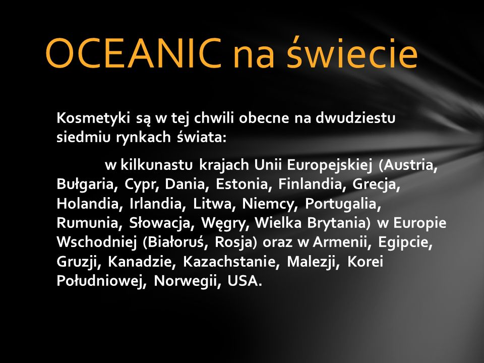 OCEANIC na świecie