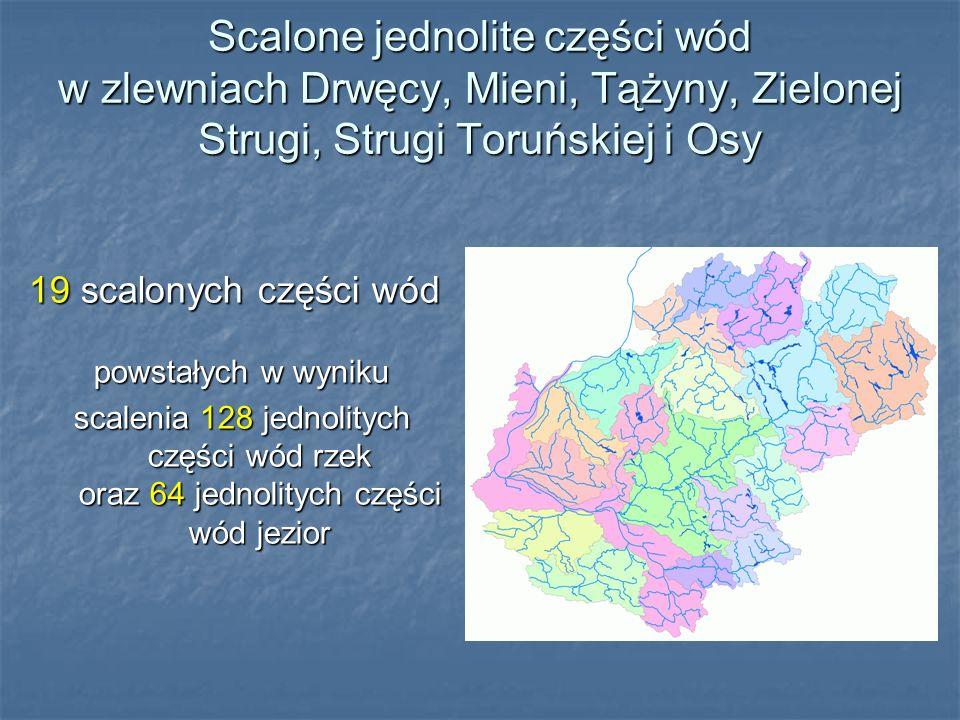 Scalone jednolite części wód w zlewniach Drwęcy, Mieni, Tążyny, Zielonej Strugi, Strugi Toruńskiej i Osy