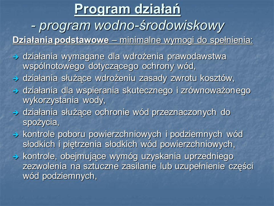 Program działań - program wodno-środowiskowy