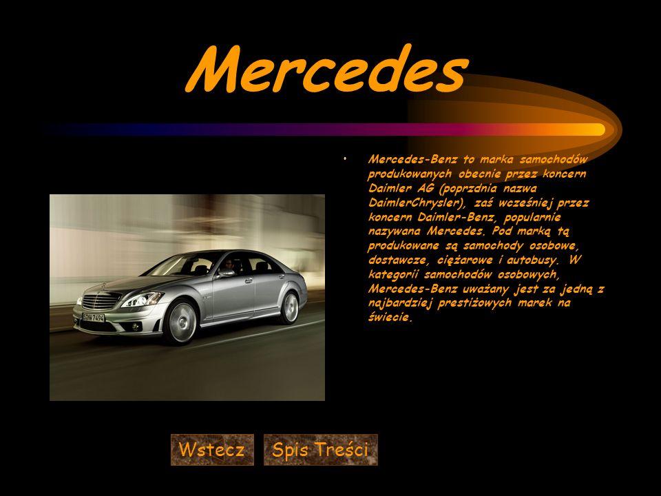 Mercedes Wstecz Spis Treści