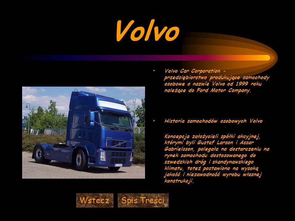 Volvo Wstecz Spis Treści