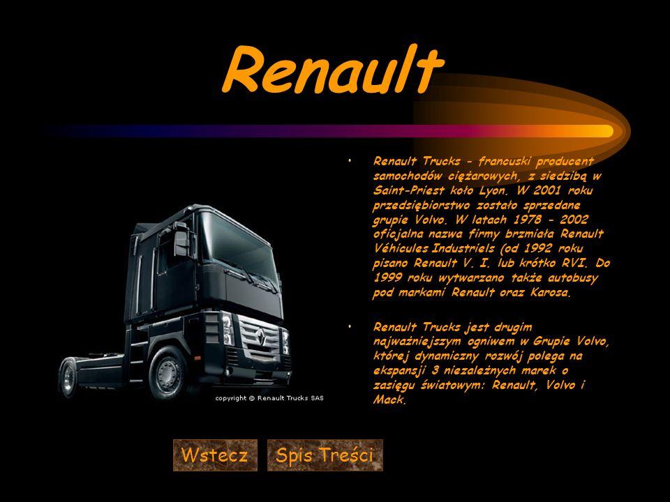 Renault Wstecz Spis Treści