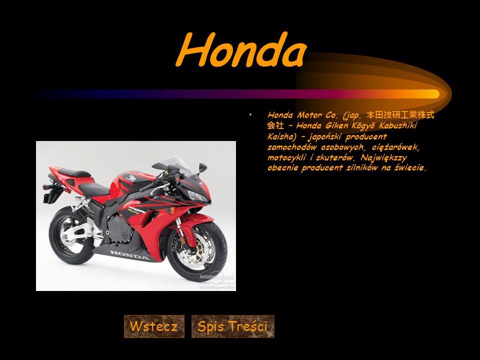 Honda Wstecz Spis Treści