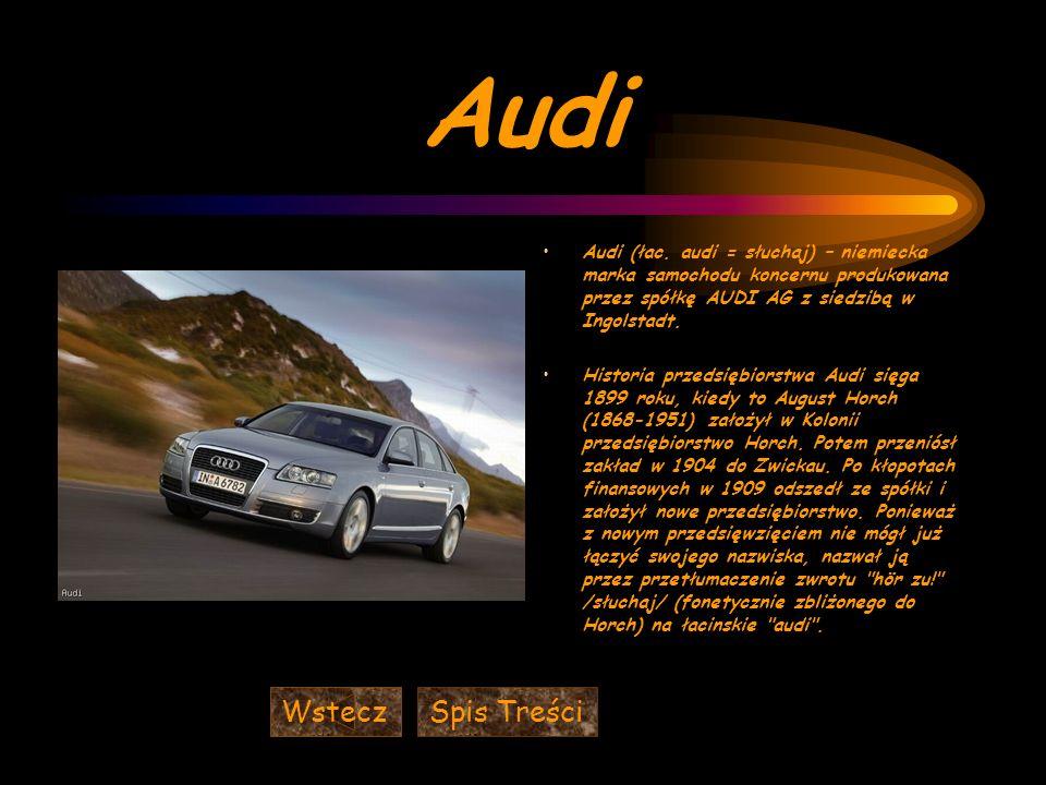 Audi Wstecz Spis Treści